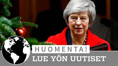 Britannian pääministeri Theresa May kuvattiin Downing Streetillä 4. joulukuuta 2018.