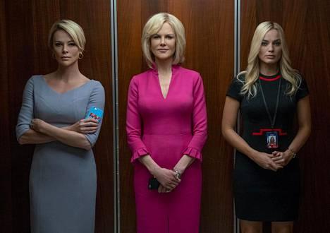 Charlize Theron, Nicole Kidman ja Margot Robbie näyttelevät Fox-uutiskanavan tähtitoimittajia näyttelevät häirintädraamassa Bombshell – Hiljaisuuden rikkojat. Oscar-ehdokkuudet tulivat Theronille naispääosasta ja Robbielle naissivuosasta.