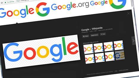 """Nykyisellään Googlen kuvahaussa on """"näytä kuva"""" -nappi, joka avaa kuvan täyskokoisena. Se katoaa nyt saavutetun sovun myötä tekijänoikeuden suojaaman materiaalin kyseessä ollessa. Kuvakaappaus Googlen hakukoneesta."""