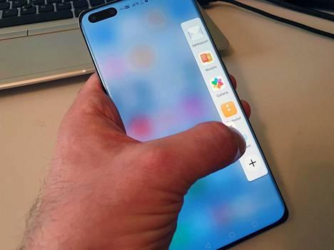 Sivun sovellusvalikko muistuttaa Samsungin vastaavasta.