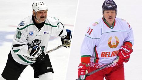 Esa Tikkanen ja Aleksandr Lukashenko ovat kohdanneet jäällä ystävyysottelussa.