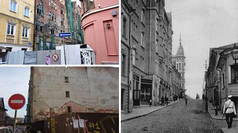 Viipurin vanhassa kaupungissa Linnankatu 11:ssä sijaitseva kuuluisa Domuksen asuinkerrostalo vuodelta 1904 on romahtamisvaarassa.