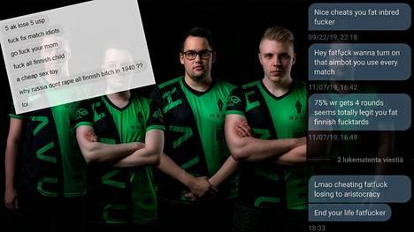 HAVU Gamingin CS-joukkue saa useasti hävittyjen otteluiden jälkeen rumia kommentteja.