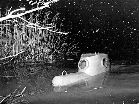 Töölönlahdelta löytyi vuonna 1972 sukellusvene.
