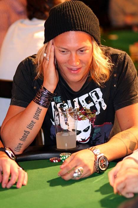 Jukka Hildén pokeriturnauksessa vuonna 2009.