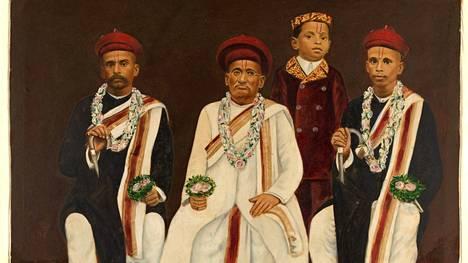 Palautettaviin taideteoksiin kuuluu muun muassa  Gujarati-perheen muotokuva.