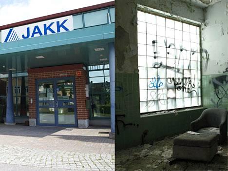 Suomessa kriisikunnaksi on ajautunut Jalasjärvi (vas), Yhdysvalloissa Detroit (oik).