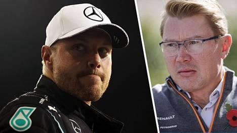 Mika Häkkinen (oik.) on auttanut Valtteri Bottasta sopimusasioissa.