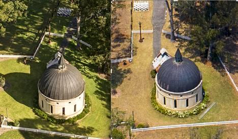 Pieni kappeli vaurioitui paloissa.