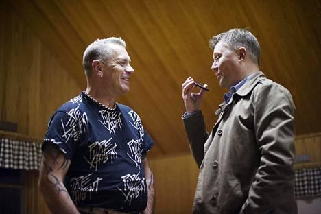 Tauski Pertti Salovaaran haastattelussa huhtikuussa 2014.