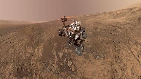 Nasan Curiosity-mönkijä tutkii parhaillaan Marsia.
