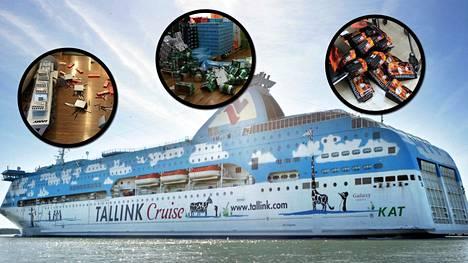 Silja Linen M/S Galaxy joutui läheltä piti tilanteeseen Itämerellä lauantaina.