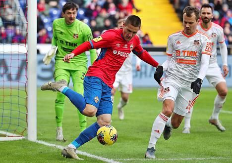 Ilja Shkurin edustaa TsSKA Moskovaa.