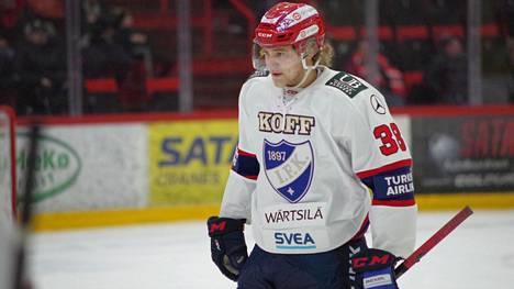 Wiljami Myllylä debytoi SM-liigassa.