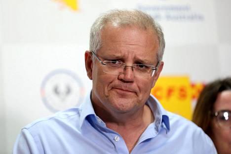 Australian pääministeri Scott Morrison on ollut tiukassa paikassa viime viikkojen ajan maata kurittavien maastopalojen takia.
