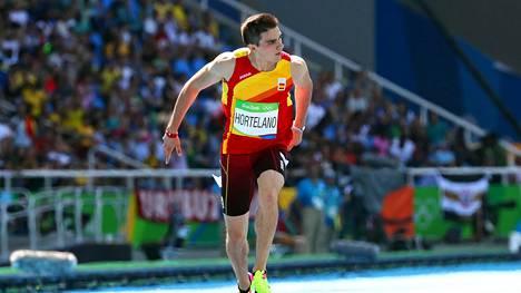 Espanjan Bruno Hortelano juoksi myös Rion olympialaisissa. Hän jäi niukasti ulos 200 metrin finaalista.