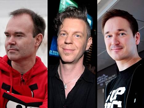 Peter Vesterbacka, Marc Dillon ja Ilkka Paananen.