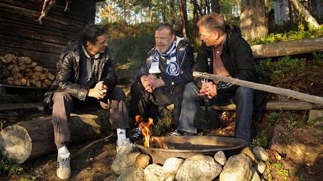 Presidentti Niinistö ja Jari Litmanen vierailivat Loirinuotiolla-ohjelmassa vuonna 2015.