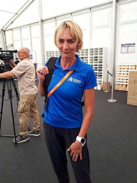 Heike Dreschler työskentelee toimitsijana Berliinin EM-kisoissa.