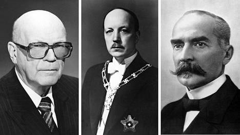 Urho Kekkonen, Risto Ryti, K.J. Ståhlberg.