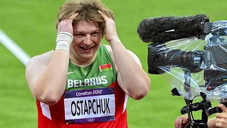 Nadzeja Ostaptshuk jäi Lontoossa kiinni kaksi kertaa.