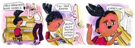 Kalle, pallo ja sello on tammikuun ajan IS:n kuukauden kotimainen sarjakuva.