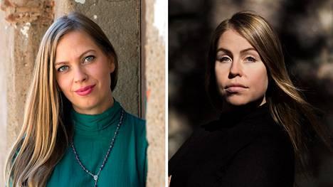 Toimittaja Kaisa Beltranin ja valokuvaaja Johanna Erjonsalo.