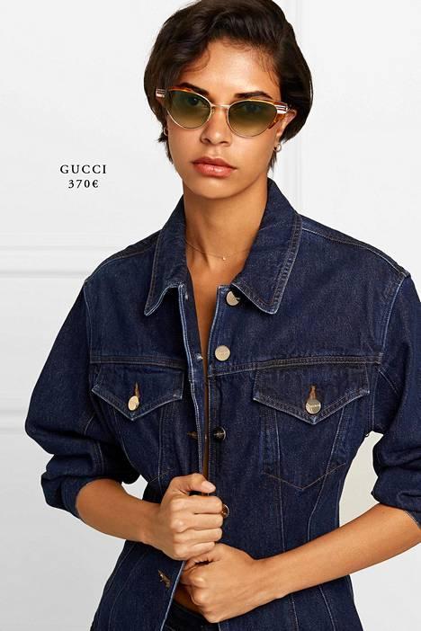 Myös monilla luksusvaatebrändeillä, kuten Guccilla, on valikoimissaan kissamaiset aurinkolasit.