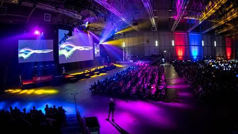 Assembly-tapahtumassa järjestetään useita peliturnauksia niin ammattilaisille kuin amatööreillekin. Kuva kesältä 2018.