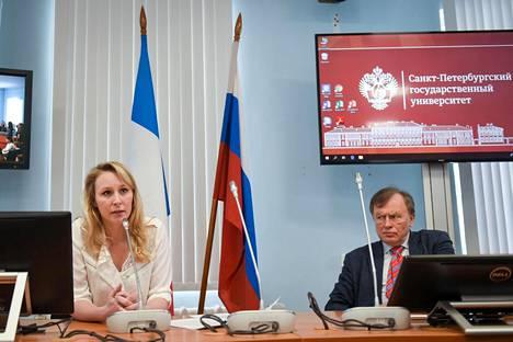 Oleg Sokolov isännöi maaliskuussa 2019 Pietarin valtionyliopistolla Marion Maréchalia, joka on Ranskan Kansallinen liittouma -puolueen poliitikko ja Marine Le Penin sisarentytär.