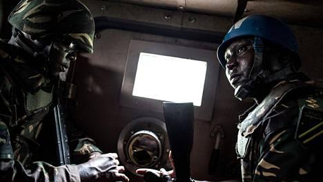 YK:n rauhanturvaajia Kongon demokraattisessa tasavallassa.