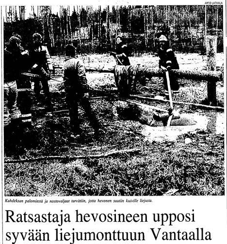 Näin HS uutisoi tapahtumasta 18. huhtikuuta 1993.