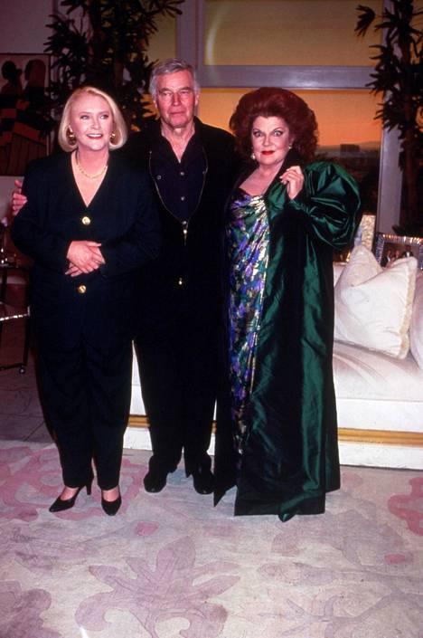 Susan Flannery (Stephanie Forrester), Charlton Heston ja Darlene Conley (Sally Spectra).