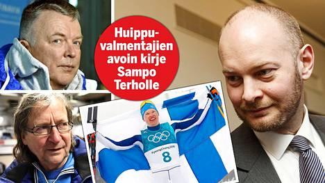 Hiihtomaajoukkueen päävalmentaja Reijo Jylhä ja hiihtovalmentaja Pekka Vähäsöyrinki kirjoittivat avoimen kirjeen kulttuuri- ja urheiluministeri Sampo Terholle. Iivo Niskanen voitti 50 kilometrin olympiakultaa Etelä-Koreassa.