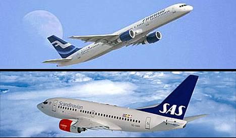 Finnairin Boeing 757 ja SAS:n Boeing 737 sivuuttivat toisensa hiuksenhienosti Ruotsin Östersundin yläpuolella.