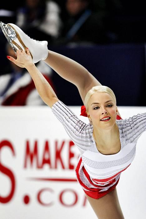 Kiira Korpi taitoluistelun EM-kisoissa vuonna 2009.