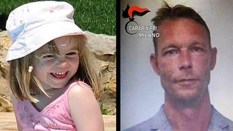 Saksalaista Christian Brückneriä epäillään 2007 Portugalissa kadonnen kolmivuotiaan Madeleine McCannin murhasta.