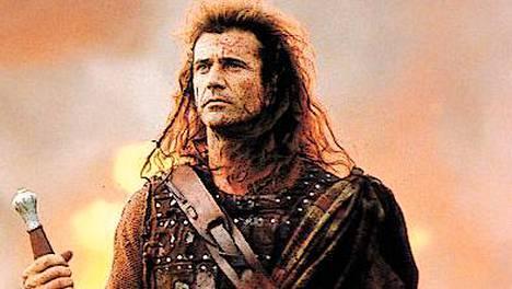 Mel Gibson esittää pääosaa ohjaamassaan menestyselokuvassa Braveheart.