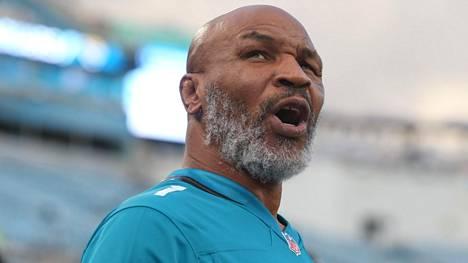 Mike Tysonin vointi on parantunut aktiivivuosista. Kuva vuodelta 2019.
