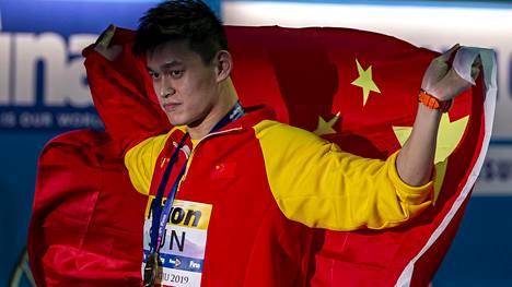 Sun Yang on kolminkertainen olympiavoittaja ja moninkertainen maailmanmestari.
