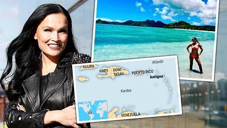 –Halusimme karata pois miljoonakaupungin melskeestä. Antigua on todella rauhallinen saari, Nightwishin laulajana aikoinaan tunnetuksi ponnahtanut Tarja Turunen kertoo IS:lle.