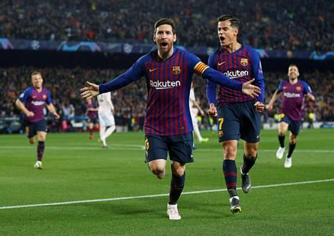 Lionel Messi upotti ManUn.