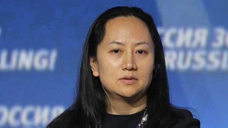 Huawei-yhtiön talousjohtaja Sabrina Meng kuvattuna Moskovassa lokakuussa 2014.