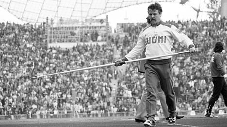 Jorma Kinnusen poismenoa muistellaan Kalevan kisojen yhteydessä. Kuva Münchenin olympiakisoista 1972.