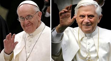 Paavi Franciscus ja emerituspaavi Benedictus