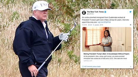 Presidentti Donald Trump tunnetaan golfin ystävänä.