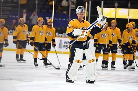 Pekka Rinne on pelannut Nashville Predatorsissa 15 kauden aikana yli 700 ottelua. Hänen sopimuksensa päättyy tähän kauteen.