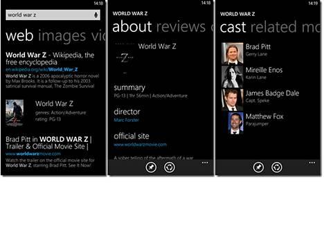 Bing on luopunut kolmepalstaisesta etusivusta hakutulosten esittämiseksi.