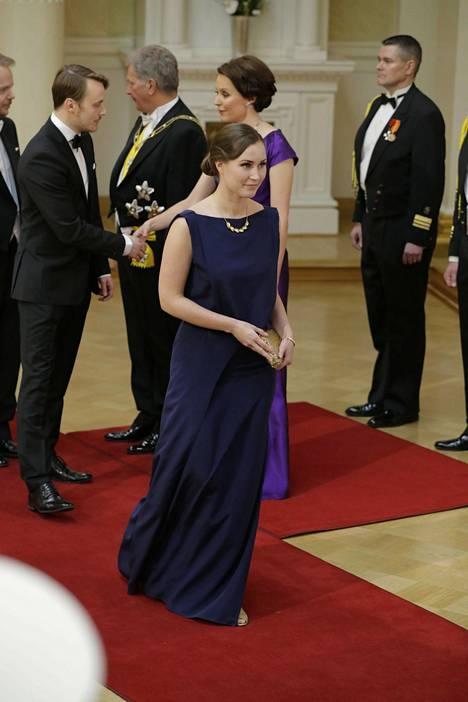 Marin edusta Linnassa itsenäisyyspäivänä 2016.