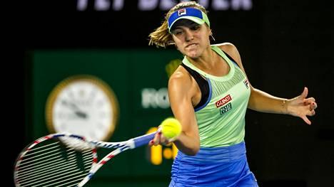 USA:n Sofia Kenin voitti naisten kaksinpelin Australian avoimissa 2020.